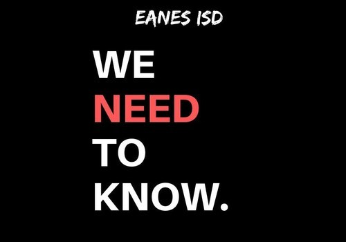 """""""We Need to Know"""" Graphic by EISD Parents for Responsible Use of Technology in School Facebook Group"""